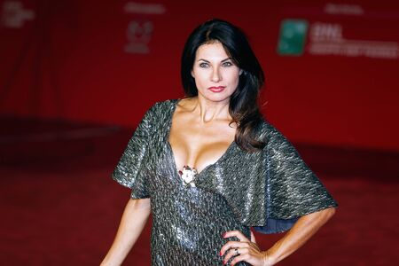 Rome, Italy - October 13, 2016. Nadia Bengala walks a red carpet for Moonlight.