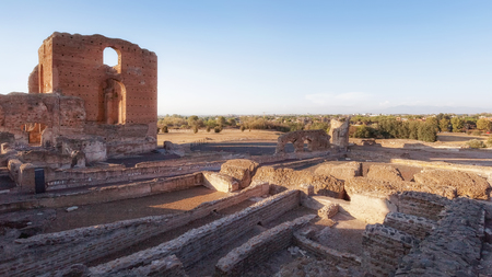 Famous Villa dei Quintili, archaeological site of Rome. Roman villa of the first half of the 2nd century.