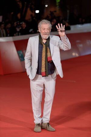 ROME, ITALY - NOVEMBER 01: Ian McKellen walks a red carpet during the 12th Rome Film Fest at Auditorium Parco Della Musica on November 1, 2017 in Rome, Italy.
