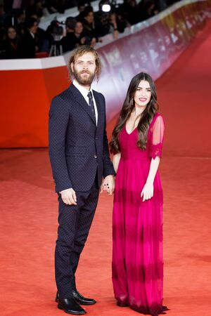 ROME, ITALY - NOVEMBER 04: Alessandro Borghi and Roberta Pitrone walk a red carpet for The Place during the 12th Rome Film Fest at Auditorium Parco Della Musica on November 4, 2017 in Rome, Italy.