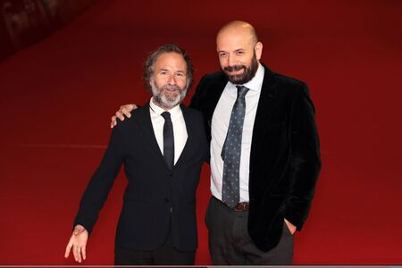 ROME, ITALY - NOVEMBER 02: Pedro Hernandez Santos and Antonio Mendez Esparza walk a red carpet for Life & Nothing More (La Vida y Nada Mas) during the 12th Rome Film Fest at Auditorium Parco Della Musica on November 2, 2017 in Rome, Italy.