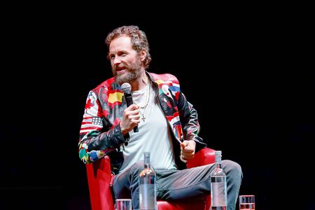 Rome, Italy - October 16, 2016. Italian singer Jovanotti (Lorenzo Cherubini) is interviewed during the meeting with the public at the 11th Rome International Film Festival.