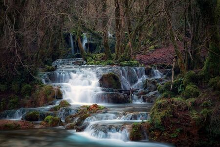Waterfalls near the source of the river Aniene, in the municipality of Trevi nel Lazio, Italy.