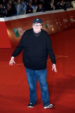 Rome, Italy. 20th Oct, 2018. Michael Moore on the red carpet for Fahrenheit 119 at Rome Film Fest 2018. 報道画像