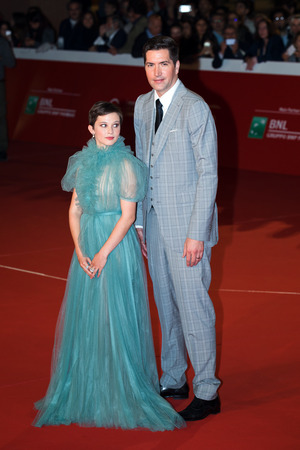 Rome, Italy. 18th October, 2018. Cailee Spaeny and Drew Goddard on the red carpet of the 13th Rome Film Fest at Auditorium Parco Della Musica. Rome Film Fest 2018. 報道画像