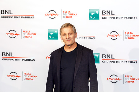 Rome, Italy. October 24, 2018: Viggo Mortensen attend the 'Green Book' photocall during the 13th Rome Film Fest at Auditorium Parco Della Musica. 新聞圖片