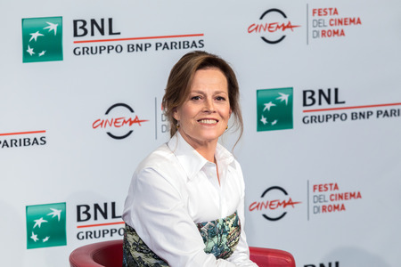 Rome, Italy. 24th Oct 2018. Sigourney Weaver attends a photocall during the 13th Rome Film Fest at Auditorium Parco Della Musica.