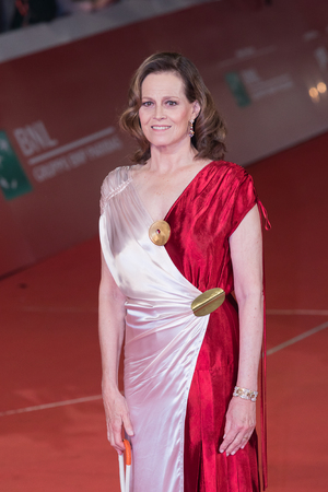 Rome, Italy. 24th Oct 2018: Sigourney Weaver on the carpet during the 13th Rome Film Fest at Auditorium Parco Della Musica. 報道画像