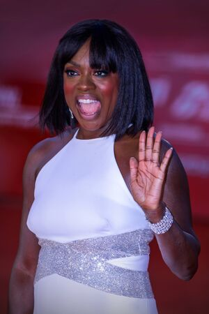 Rome Italy. 26 October 2019. Viola Davis on the red carpet of the 14th Rome Film Festival before her close encounter. Editöryel