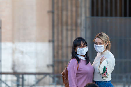 Rome, Italy - March 11, 2020: The city empties itself of tourists and people, the streets and main places of the capital remain deserted due to the coronavirus health emergency that has affected the whole of Italy. Sajtókép