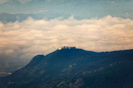 The abbey of Montecassino is a Benedictine monastery located on the top of Montecassino, in Lazio. It is the oldest monastery in Italy