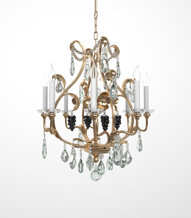 crystal chandelier: Luxury Glass Chandelier on white background