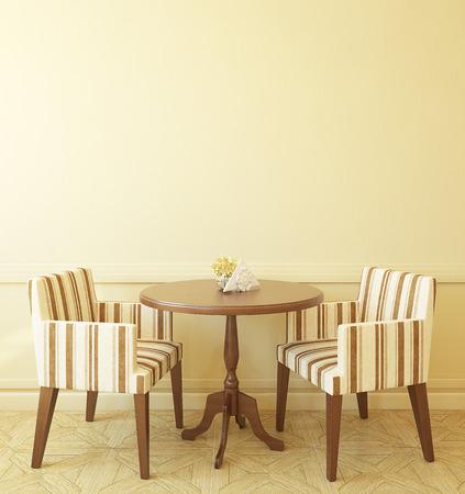 jídelna: Interiér moderní kavárně. 3d render.