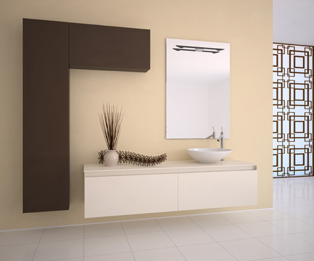 bathroom interior: Modern bathroom interior. 3d render.
