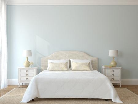 Interieur slaapkamer.