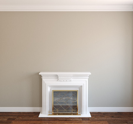 fireplace: Interior with fireplace.