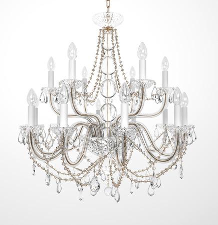 Luxury Glass Chandelier on white background