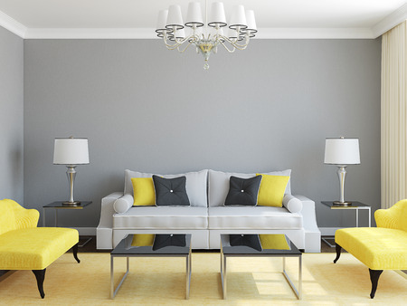 Modern living-room interior. Stock Photo - 36472368