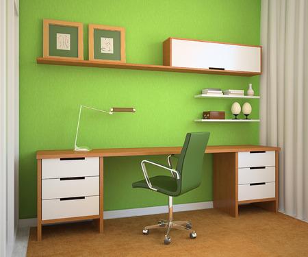 light classroom: Modern office interior. 3d render.