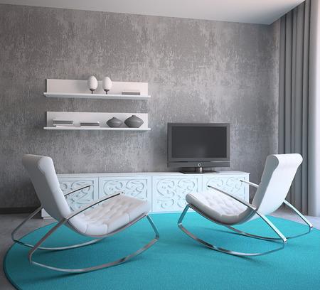 Salon intérieur moderne. 3d render. Banque d'images - 39488733