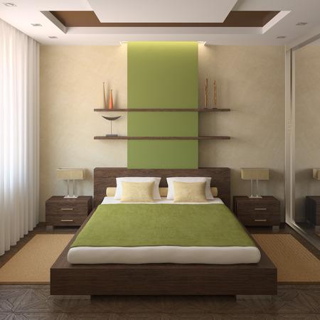chambre � coucher: Int�rieur de la chambre moderne. 3d render.