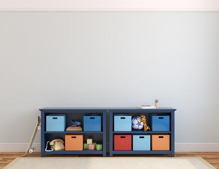 rendering: Colorful playroom interior. 3d render.