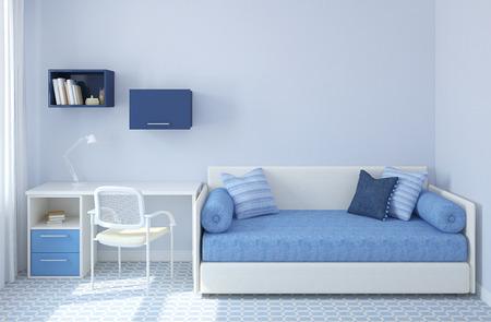 chambre Ã?  coucher: Intérieur coloré de salle de jeux. 3d render. Banque d'images