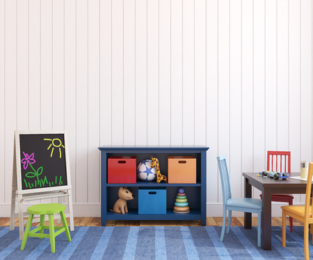 Colorful playroom interior. 3d render. Stock Photo - 42244761