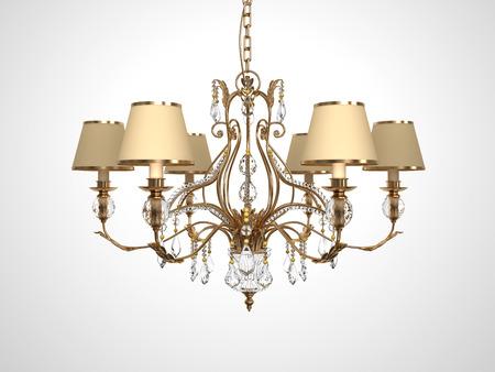 lustre: Luxury Chandelier on white background.