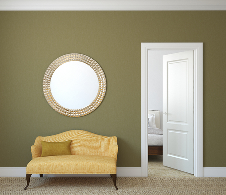 Hallway interior. 3d render. 版權商用圖片