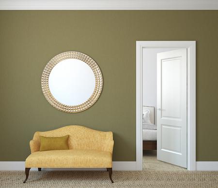 Hallway interior. 3d render. Standard-Bild