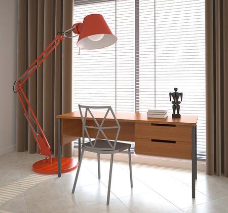 study room: Modern office interior.