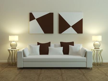rendering: Modern sofa 3D computer rendering
