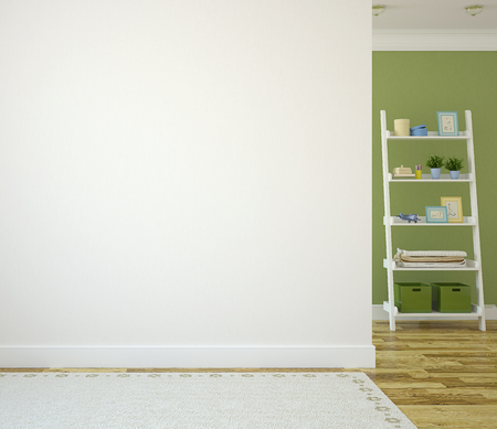 Interior of nursery. 3d render.