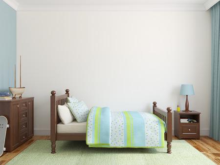 baby bedroom: Bedroom for boy. 3d render.