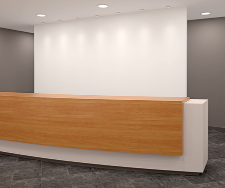 hall: Reception in modern office