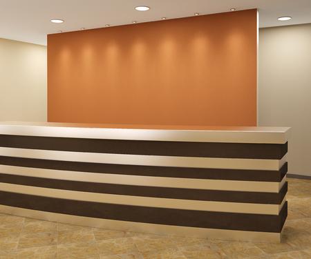 Reception in modern office