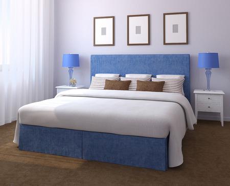 chambre à coucher: Bel intérieur de la chambre. 3d render.