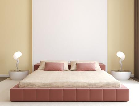 chambre � coucher: Int�rieur de la chambre moderne. Minimalisme. 3d render.