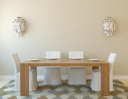 diningroom: Modern dining-room interior.3d render.