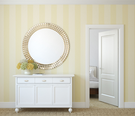 Classic hal interieur. 3d render.