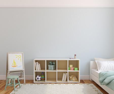 Playroom interior. 3d render. Standard-Bild