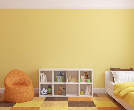 chambre: Intérieure salle de jeux colorée. 3d render.