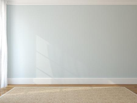 Innenansicht der leeren Raum. 3D-Darstellung. Standard-Bild