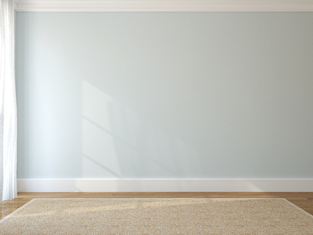 empty: Interior of empty room. 3d render. Stock Photo