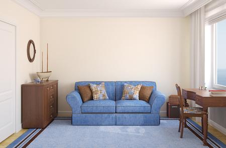 chambre à coucher: Chambre pour le garçon. 3d render.