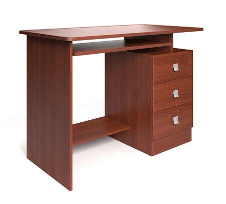foe: Modern wood desk foe office. 3d render.