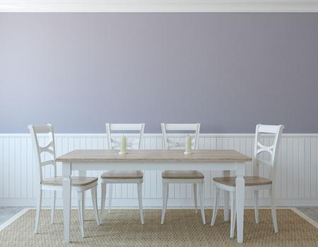 render: Dining-room interior. 3d render.