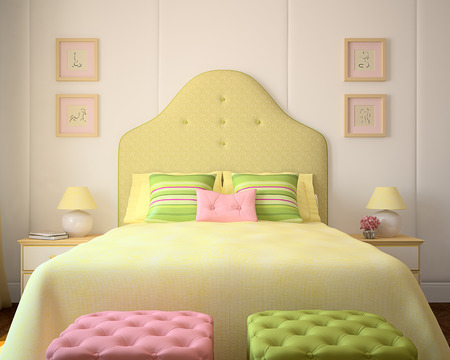 playroom: Colorful playroom interior. 3d render.