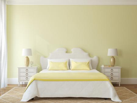 bedroom: Bedroom interior. 3d render.